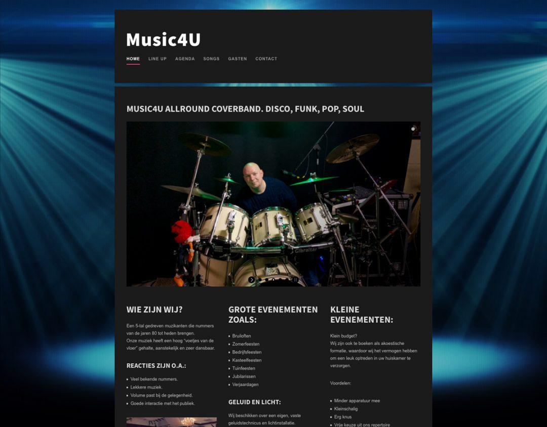 website coverband Music4U